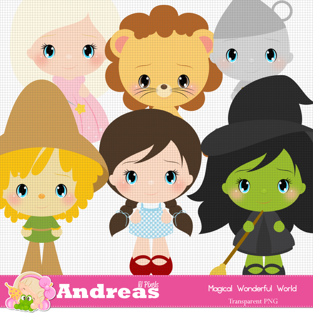 Magical Wonderful World Clipart Digital Graphics Halloween