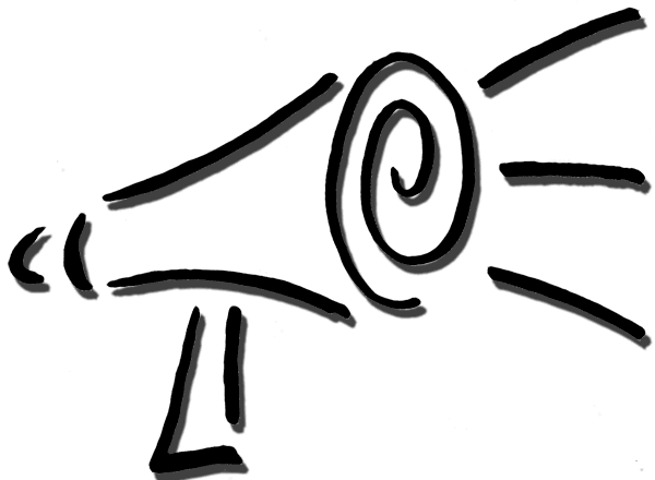 Megaphone Clip Art Black And White Free Clipart