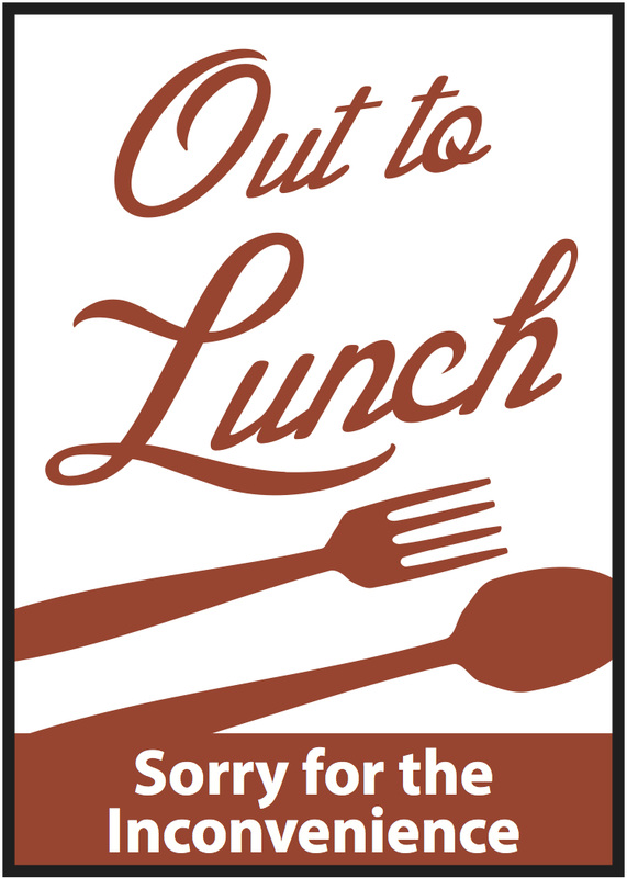 picture regarding Printable Out to Lunch Sign known as Most straightforward Out Toward Lunch Signal #4068 -
