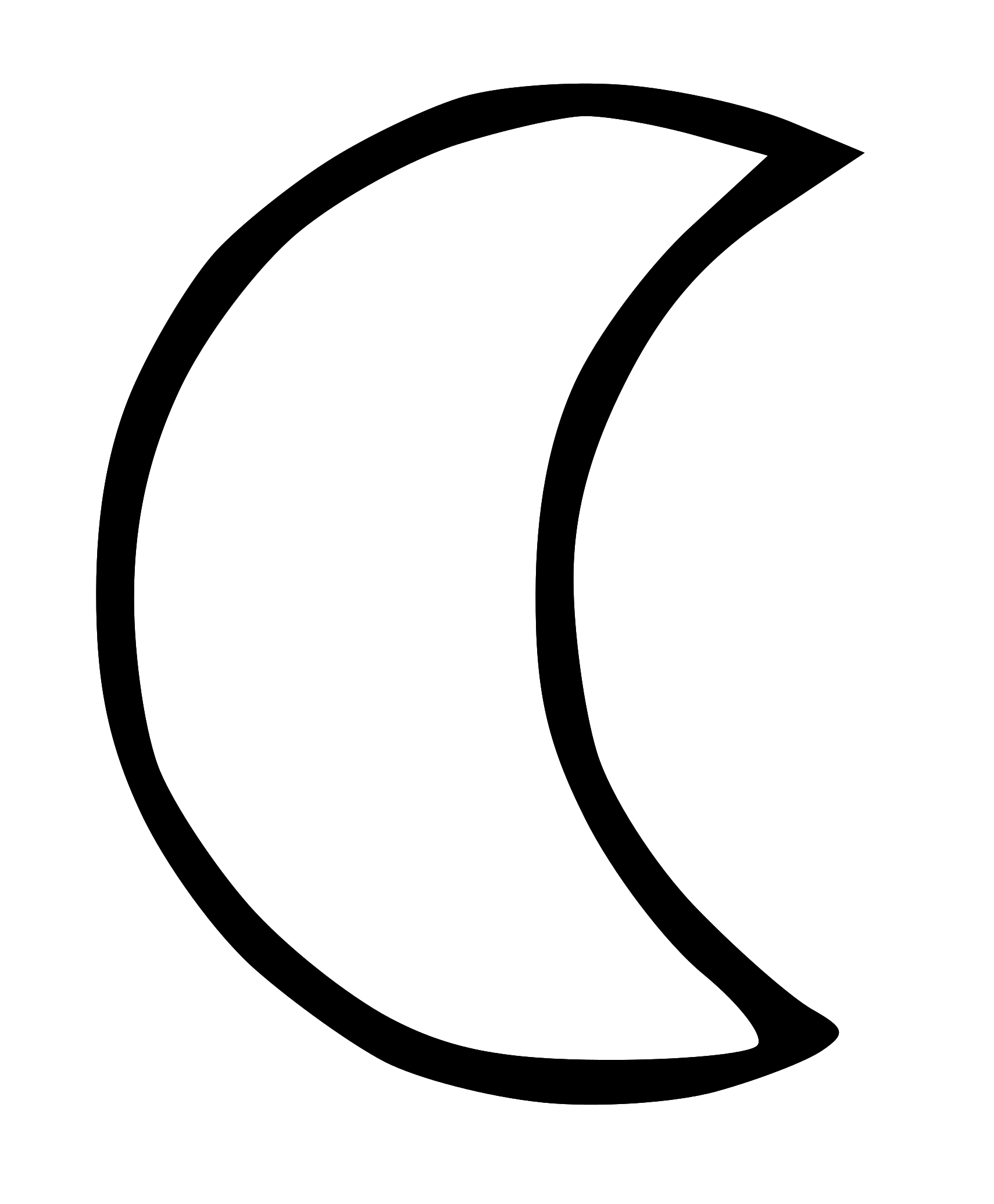 Moon Clip Art Black And White Free Clipart