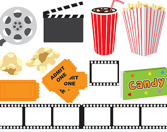 Movie Night Clipart Etsy