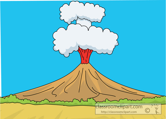 Moving Volcano Clipart