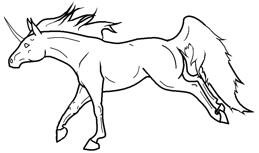 Ms Paint Unicorn Lineartnvbarrelracer7 On Deviantart