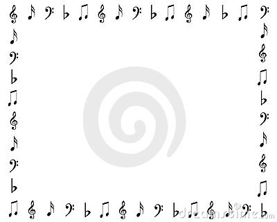Music Notes Border Stock Vector Image