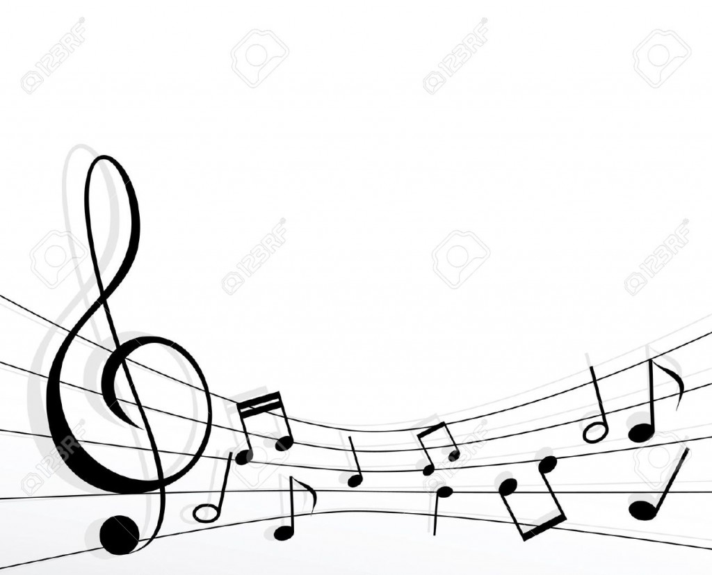 Music Notes Vector Border Images