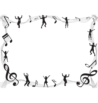 Musical Border Vectorhuhulin Image 6 Vectorstock
