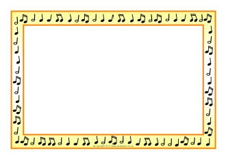 Musical Notes A4 Page Borders Music Printables Clip Art Fonts
