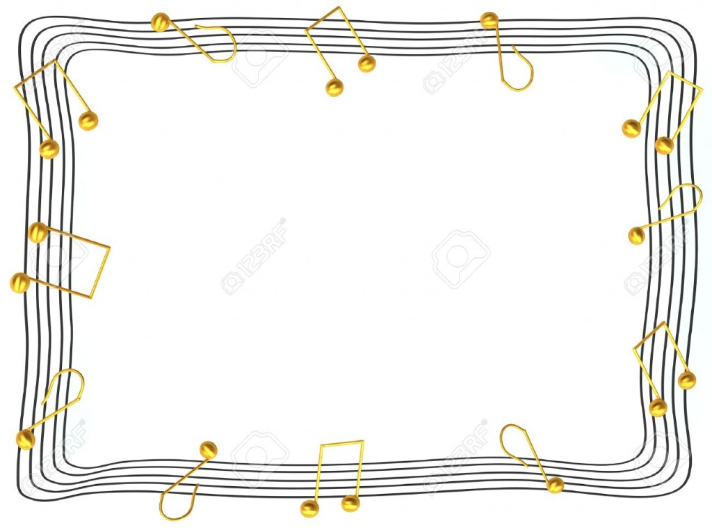 Musical Notes Border Stock Photos Pictures Royalty Free Musical