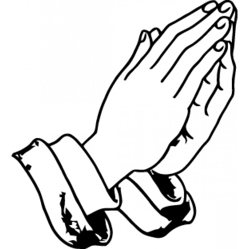 Open Praying Hands Drawing Free Clipart Images