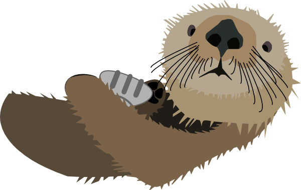 Otter With Shell Clip Art At Vector Clip Art Online