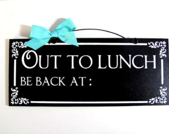Best Out To Lunch Sign #4057 - Clipartion.com