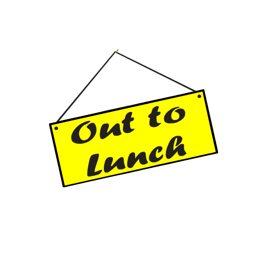 Out To Lunch Sign Clipart Free Clip Art Images