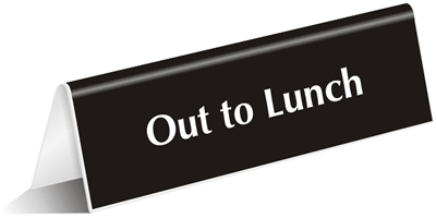 Out To Lunch Sign Se 6 Png