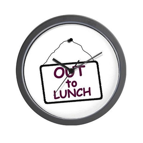 Out To Lunch Sign Wall Clockartofreproduct