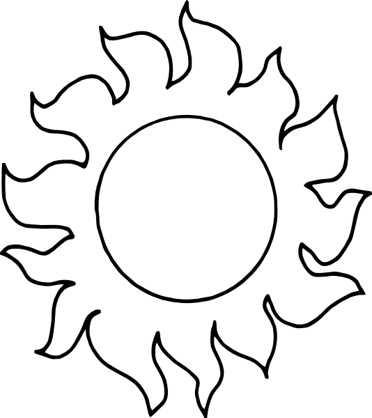 Outline Decorative Sun Clip Art At Vector Clip Art
