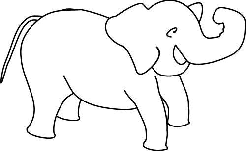 Outline Drawing Of An Elephant Animals