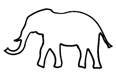 Outline Of An Elephant Royalty Free Images Photos And Stock