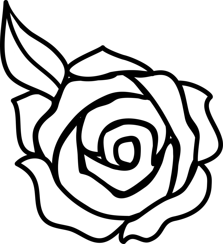 Outline Of Rose Flower