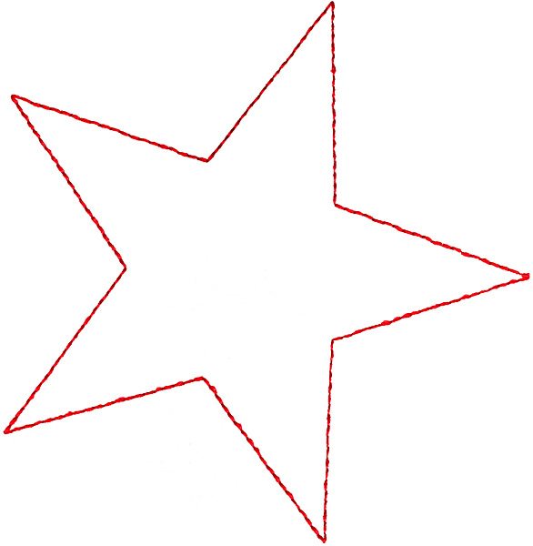 Outlines Embroidery Design Star Outline From Grand Slam Designs