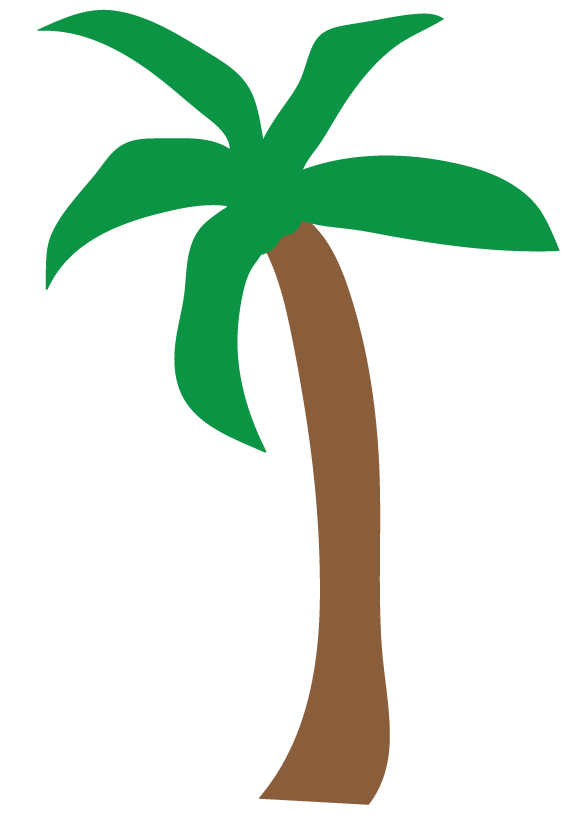 Palm Tree Clip Art Black And White Free Clipart