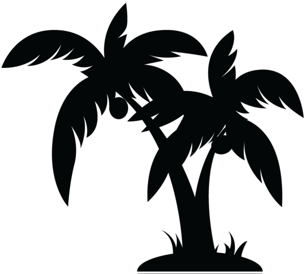Palm Tree Clip Art Black And White