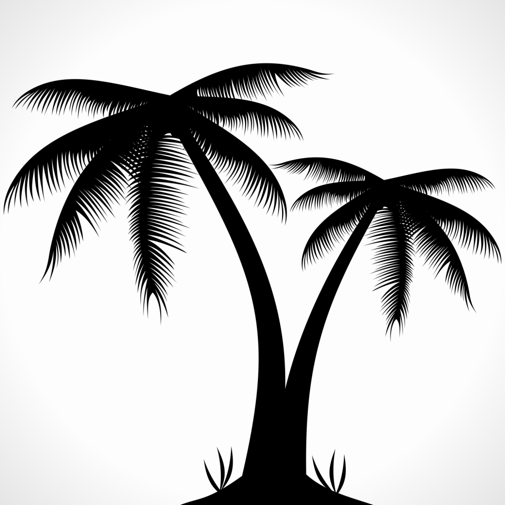 Palm Tree Silhouette Clipart Free Clip Art Images