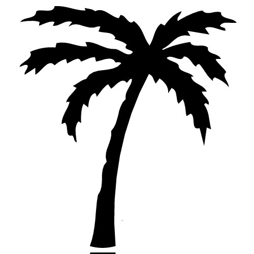 Palm Tree Silhouette Free Clipart Images