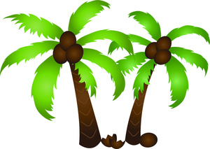 Palm Trees Clipart Image Coconut Palms