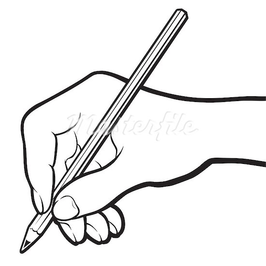 Paper And Pencil Clipart Black And White Free