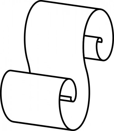 Paper Scroll Clip Art Free Vector In Open Office Drawing