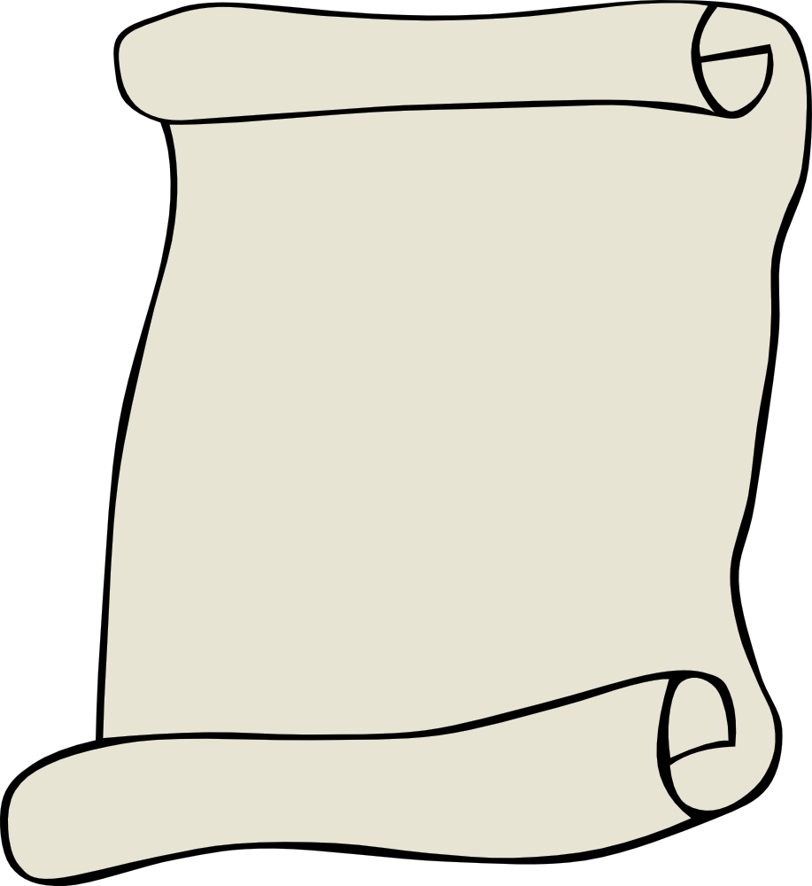Parchment Scroll Clipart