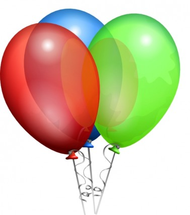 Party Helium Balloons Clip Art Free Vector In Open Office Drawing