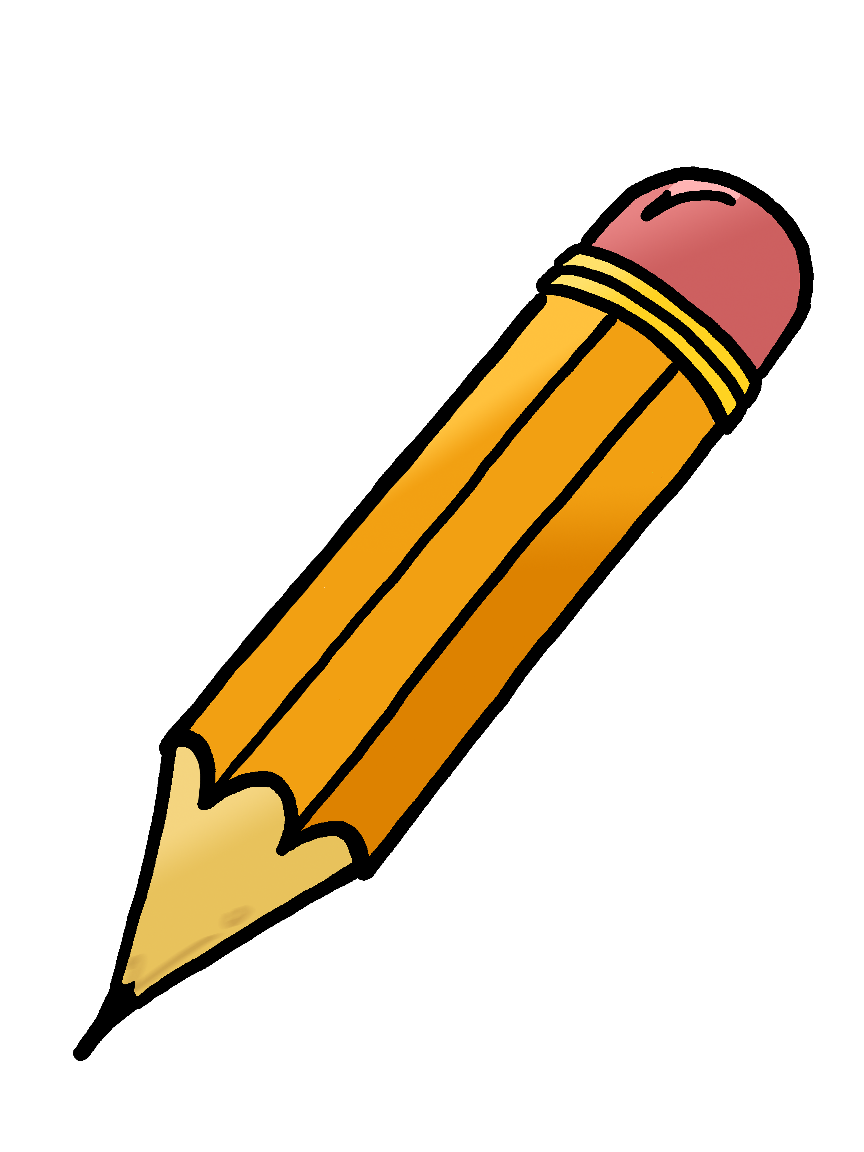 Pencil Clip Art Black And White Free Clipart Images