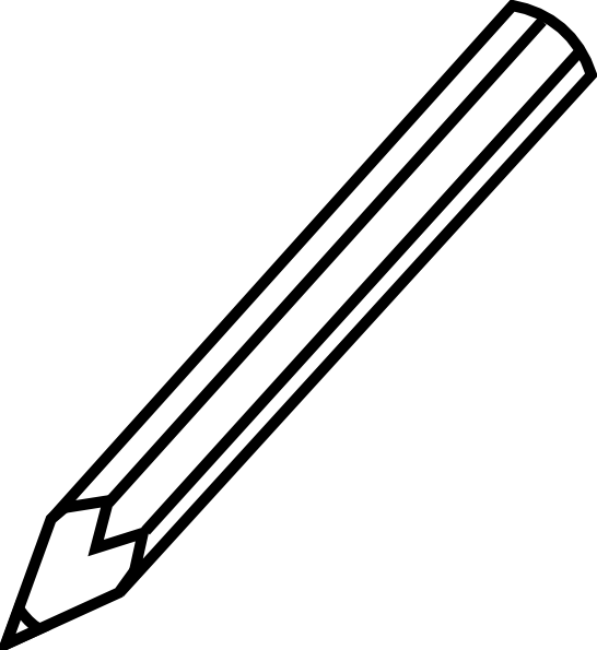 Pencil Clip Art Black And White Free Clipart