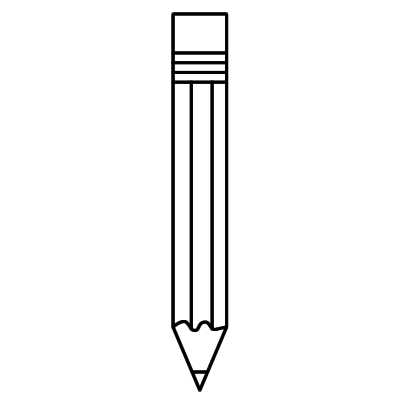 Pencil Clipart Black And White Horizontal Free