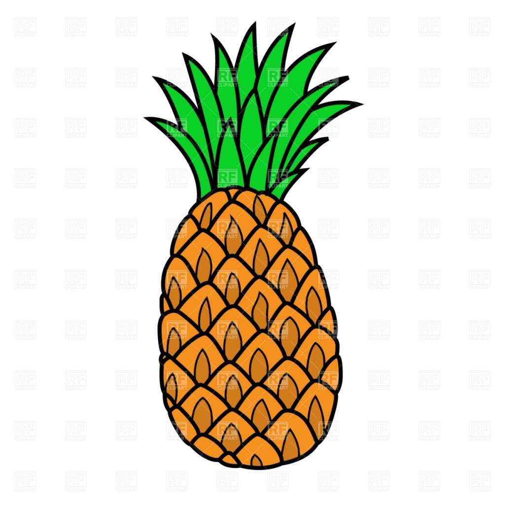 Pineapple Clipart Black And White Free Clipart
