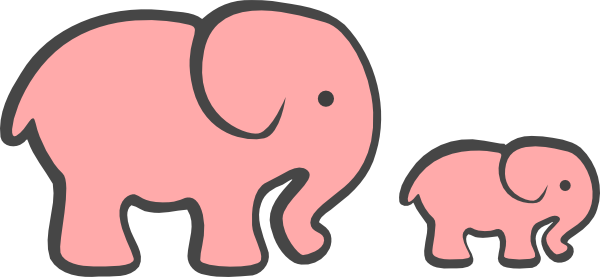 Pink Baby Elephant Clip Art 9 Png