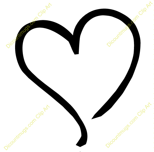 Pink Heart Outline Clipart Free Clipart Images