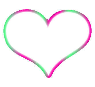 Pink Heart Outline