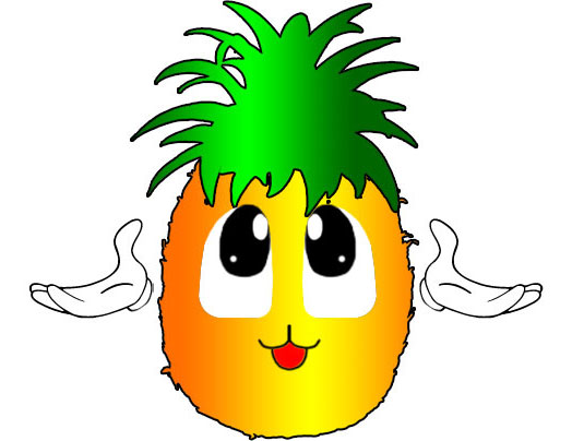 Pix For Gt Cute Pineapple Clipart