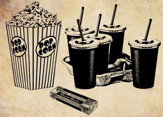 Popcorn Soda Movie Night Food Png Clip Art Digital Image Download