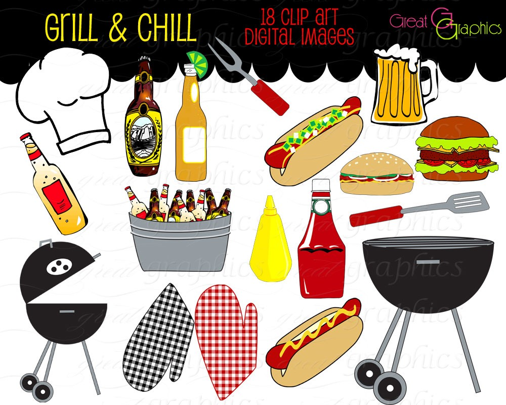 Popular Items For Bbq Clip Art On Etsy