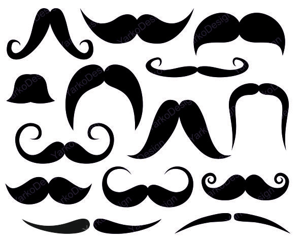 Popular Items For Mustache Clip Art On Etsy