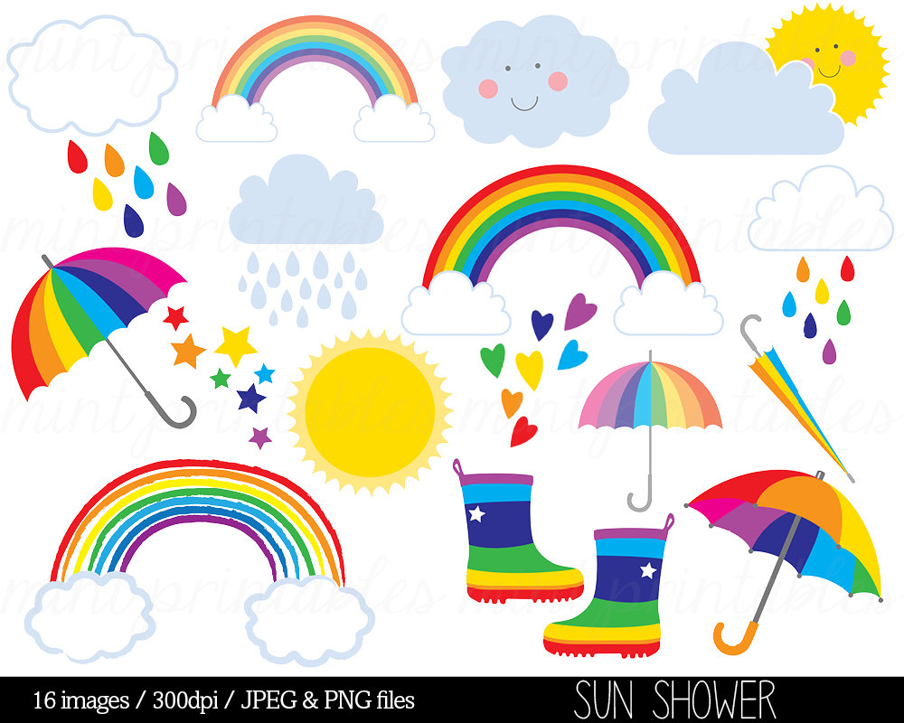 Popular Items For Rainbow Clip Art On Etsy