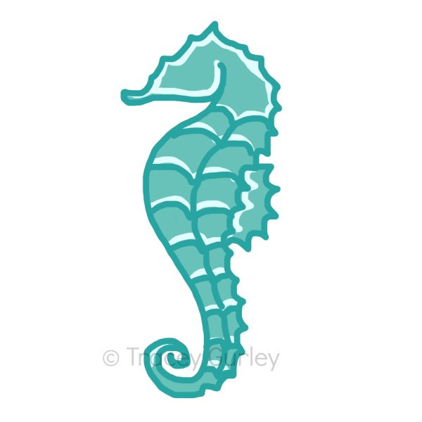 Popular Items For Seahorse Clipart On Etsy