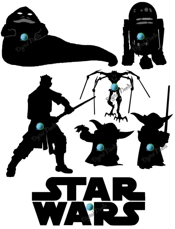 Popular Items For Star Wars Clipart On Etsy
