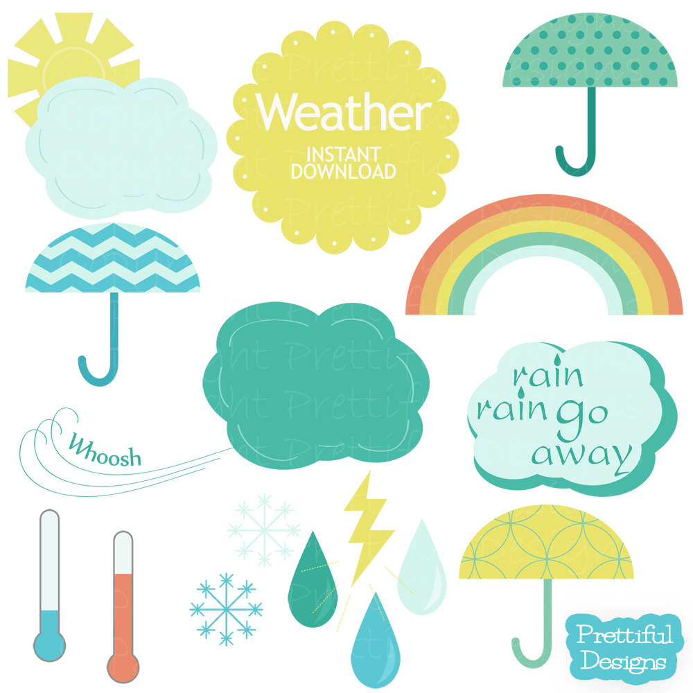 Popular Items For Weather Clip Art On Etsy