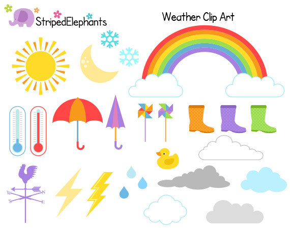 Popular Items For Weather Clipart On Etsy