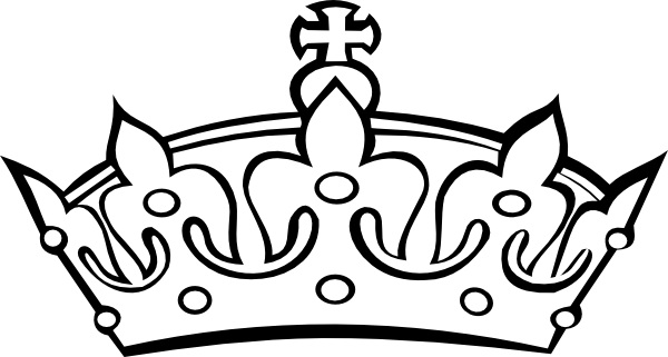 Princess Crown Clipart Black And White Free