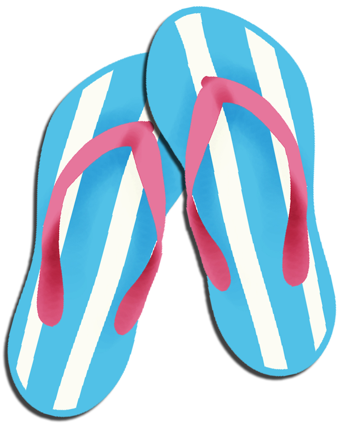 image relating to Flip Flop Printable identified as Least difficult Transform Flop Clipart #3385 -